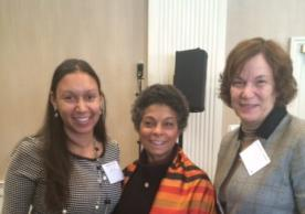 Dr. Taylor, Dr. Risa Lavizzo-Mourey, President and CEO of RWJF, and Dr. Jacquelyn Campbell, National Program Director, RWJF Nurse Faculty Scholars, Professor and Anna D. Wolf Chair, Johns Hopkins University School of Nursing, at the Robert Wood Johnson Foundation Nurse Faculty Scholars Meeting in Baltimore, Maryland.